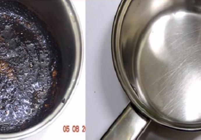 Evo kako bez muke očistiti zagorjele šerpe