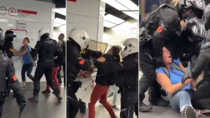 POLICIJA U FRANCUSKOJ NA BRUTALAN NAČIN HAPSI DVIJE GOLORUKE ŽENE DOK SE KUKAVIČKI POVLAČE PRED VEĆOM MASOM U TRŽNOM CENTRU (VIDEO)